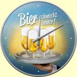 Bier schmeck immer - Tablett - Wanduhr  Breakfast at Tiffanys - blau - Wanduhr Elvis Rock n Roll Baby - Wanduhr US-: Produkte für Freunde der Fahrzeugtechnik: Auto, Motorrad, Flugzeug, Bahn, Fahrrad