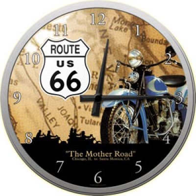 Route 66 - The Mother Road - Wanduhr Route 66 - The Mother Road - Wanduhr Breakfast at Tiffanys - blau - Wanduhr